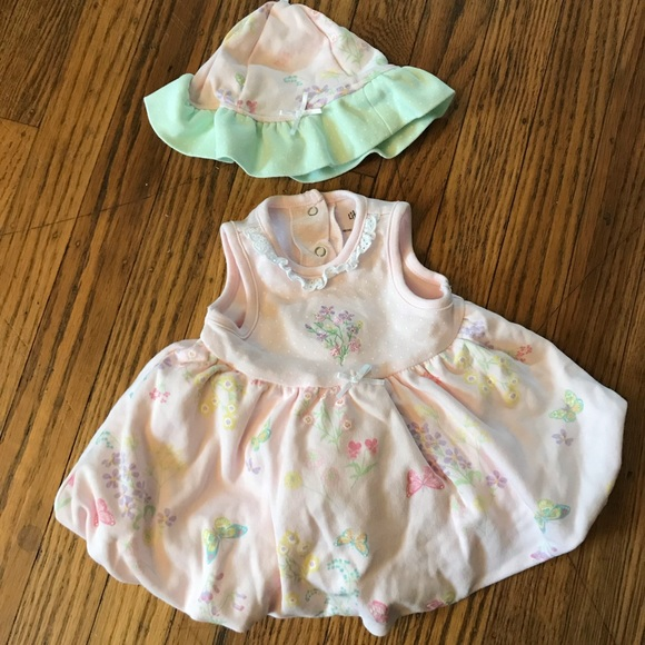 Little Me Other - Dress and hat for baby girl